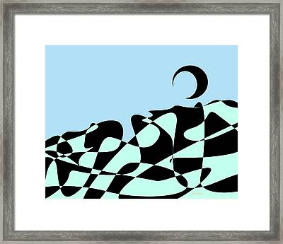 Earth From The Outer Atmosphere Framed Print