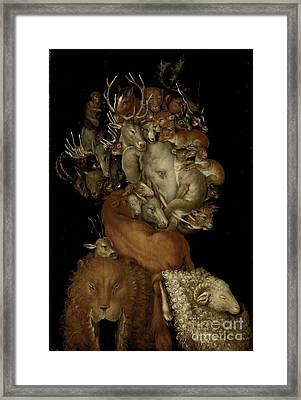 Earth Framed Print by Giuseppe Arcimboldo