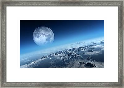 Earth Icy Ocean Aerial View Framed Print by Johan Swanepoel