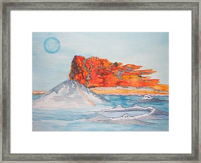 Framed Print featuring the painting Earth In Action by Connie Valasco