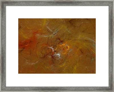 Earth Inside Framed Print by Emma Alvarez