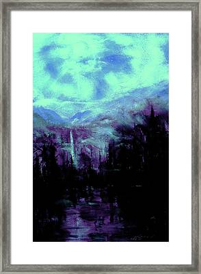 Earth Light Series Nocturne Framed Print by Len Sodenkamp