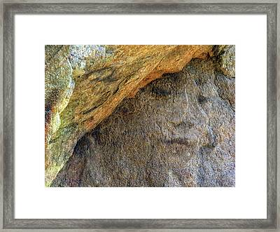 Framed Print featuring the photograph Earth Memories-stone # 4 by Ed Hall