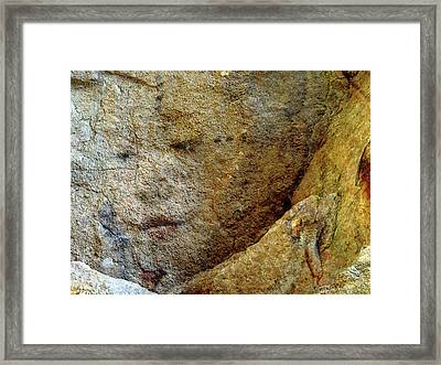 Framed Print featuring the photograph Earth Memories - Stone # 5 by Ed Hall