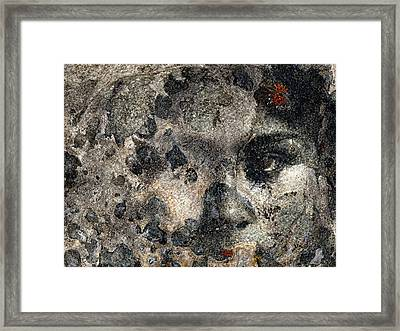 Framed Print featuring the photograph Earth Memories - Stone # 7 by Ed Hall