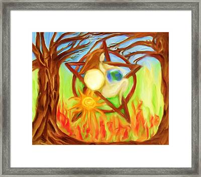 Framed Print featuring the painting Earth Mother Goddess by Shelley Bain