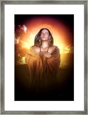 Framed Print featuring the digital art Earth Mother by Valerie Anne Kelly