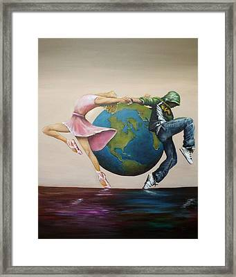 Earth Moves Framed Print by Michelle Iglesias