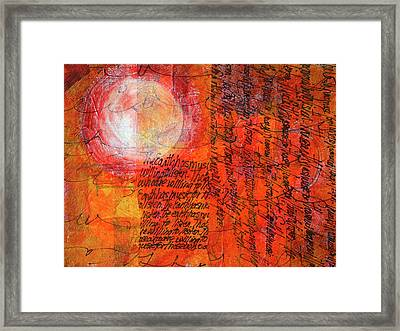 Framed Print featuring the mixed media Earth Music by Nancy Merkle