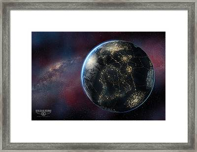 Earth One Day Framed Print by David Collins