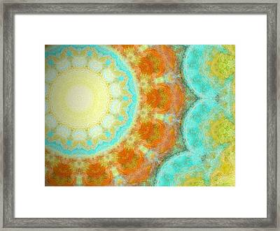 Earth Rain Framed Print by Glorielis Martins