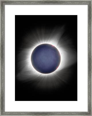 Earth-shine Framed Print