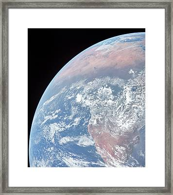 Earth Slice Framed Print by Peter Chilelli