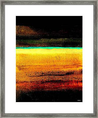 Earth Stories Abstract Framed Print
