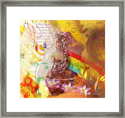 Earth Touching Buddha Framed Print
