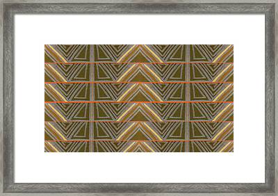 Earth Triangles Framed Print by Modern Metro Patterns and Textiles