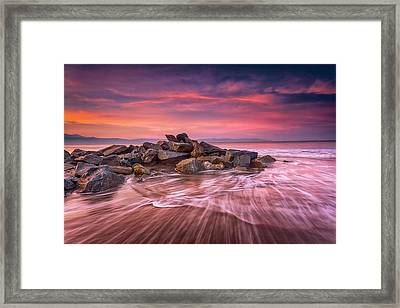 Earth, Water And Sky Framed Print