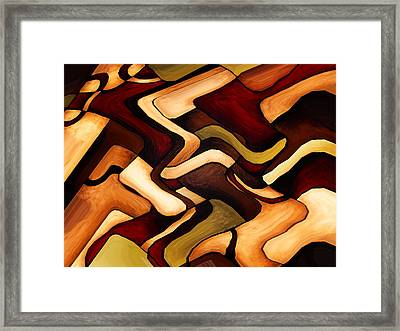 Earth Weave Framed Print