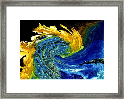 Earth Wind And Fire Framed Print by Karen Scovill