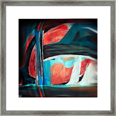 Contrast And Concept Framed Print