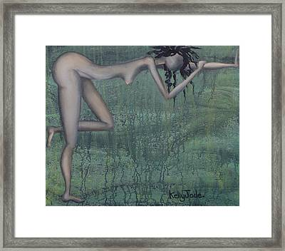 Earth Woman Framed Print by Kelly Jade King