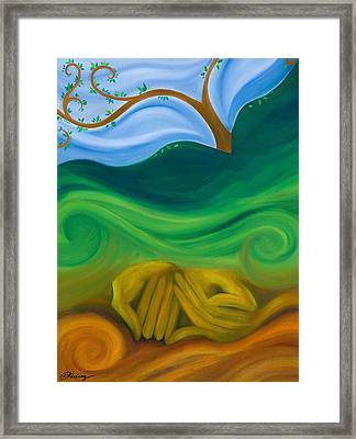 Earth Womb Framed Print