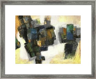 Lemon And Tiles Framed Print