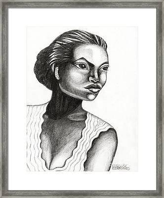 Eartha Kitt Framed Print