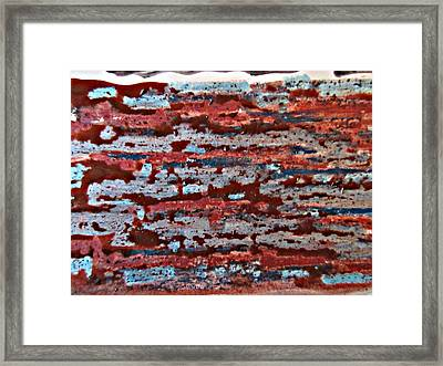 Earthen Blurr Abstract Framed Print by John Malone
