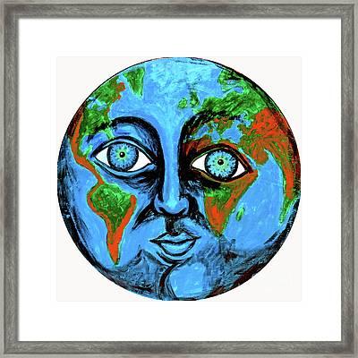Earthface Framed Print