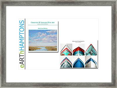 eARThHAMPTON - EAST HAMPTON  Framed Print by Earth HAMPTONS