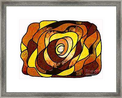 Earthly Dimensions Abstract Organic Art By Omaste Witkowski Framed Print by Omaste Witkowski