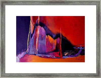 Earthquakes In Divers Places Framed Print by Ruth Palmer