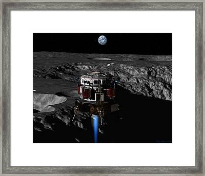 Framed Print featuring the digital art Earthrise by David Robinson