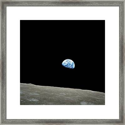 Earthrise - The Original Apollo 8 Color Photograph Framed Print