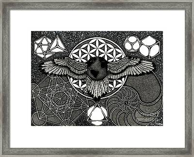Earth's Ascension, Sacred Knowledge Framed Print by Kyle Redding