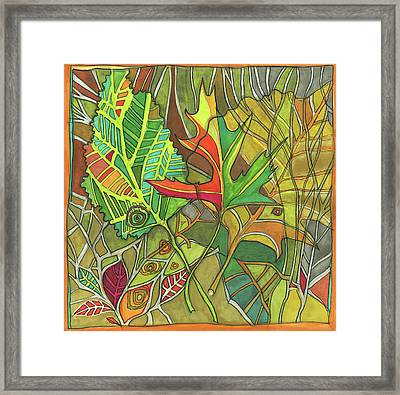 Earth's Expression Framed Print