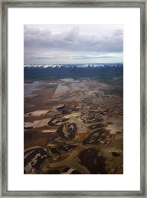 Framed Print featuring the photograph Earth's Kidneys by Ryan Manuel