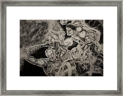 Earth's Mightiest Heroes Framed Print by Chris Volpe