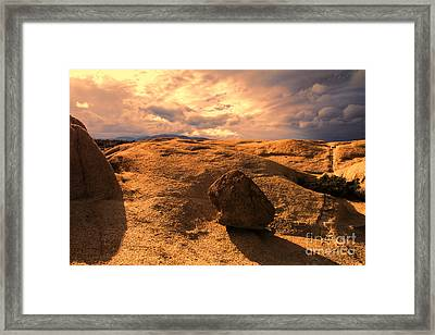 Earth's Seams Framed Print