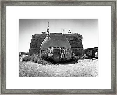 Earthship Framed Print