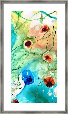 Earthy Abstract - Dance Party - Sharon Cummings Framed Print