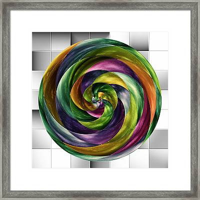 Earthy Color On Modern Confusion Framed Print