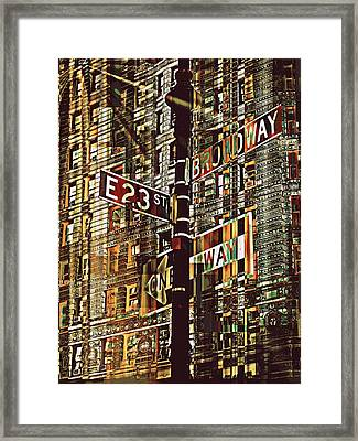 East 23rd And Broadway Framed Print by Teodoro De La Santa