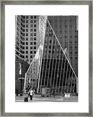 East 42nd Street, New York City  -17663-bw Framed Print