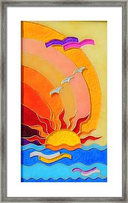 East And West Panel East Framed Print