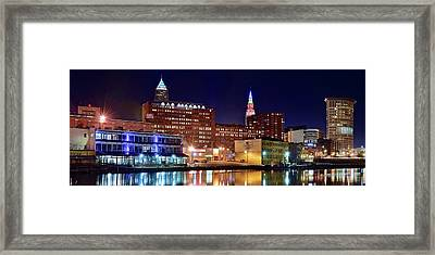 East Bank Pano Framed Print by Frozen in Time Fine Art Photography