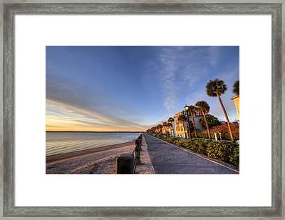East Battery Row Charleston South Carolina Sunrise Framed Print