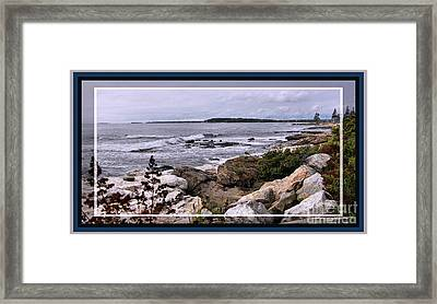 East Boothbay, Maine Ocean View, Framed Framed Print by Sandra Huston