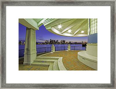 East Boston Piers Park View Of Boston Framed Print by Juergen Roth